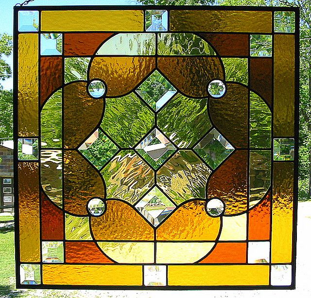 Amber Glass Panel by livingglassart home of oddballs and oddities, via Flickr