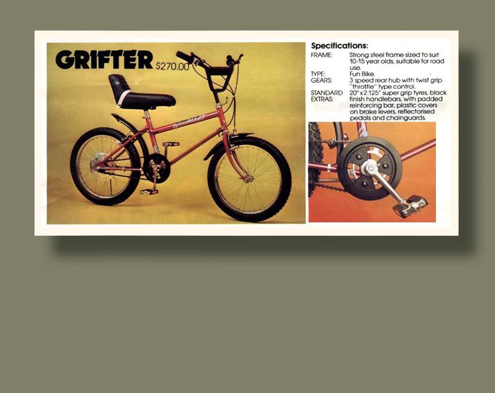 New Zealand Grifter Ad Bike Design Raleigh Grifter Bike