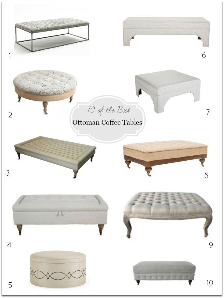 Ottoman Coffee Tables | Tapizado, Mesas y De cafe