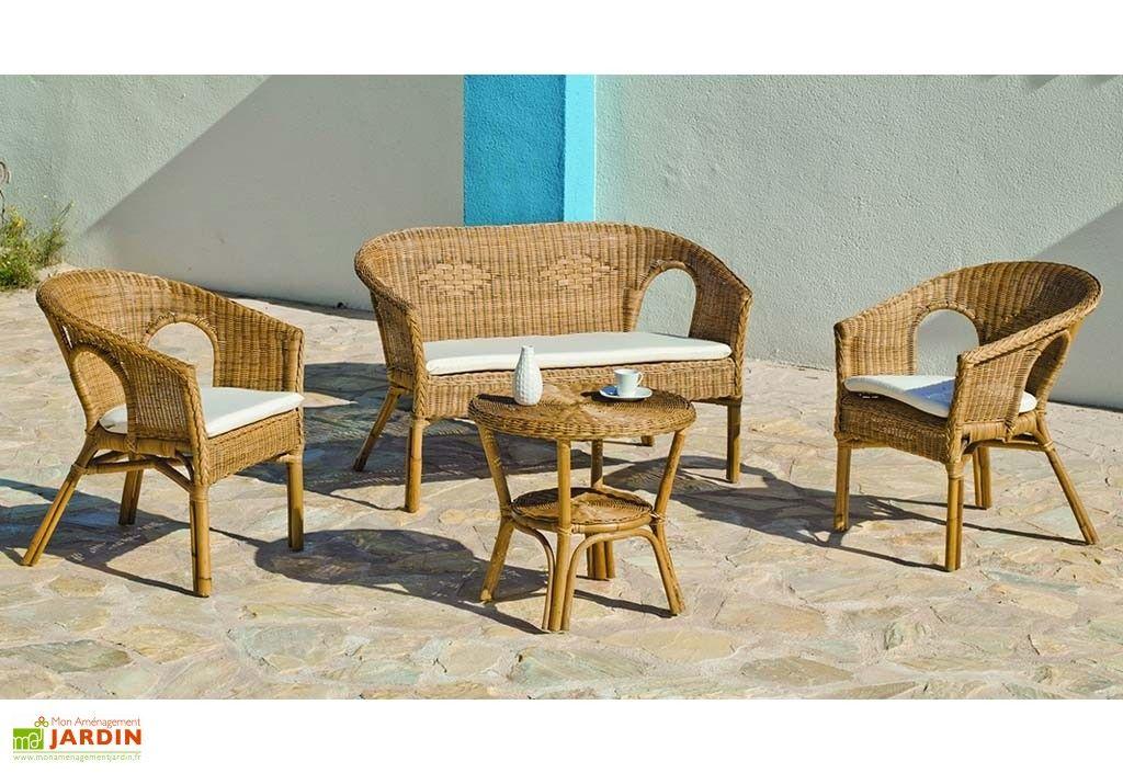 salon de jardin en rotin tress canap 2 fauteuils table basse en 2019 mobilier de. Black Bedroom Furniture Sets. Home Design Ideas