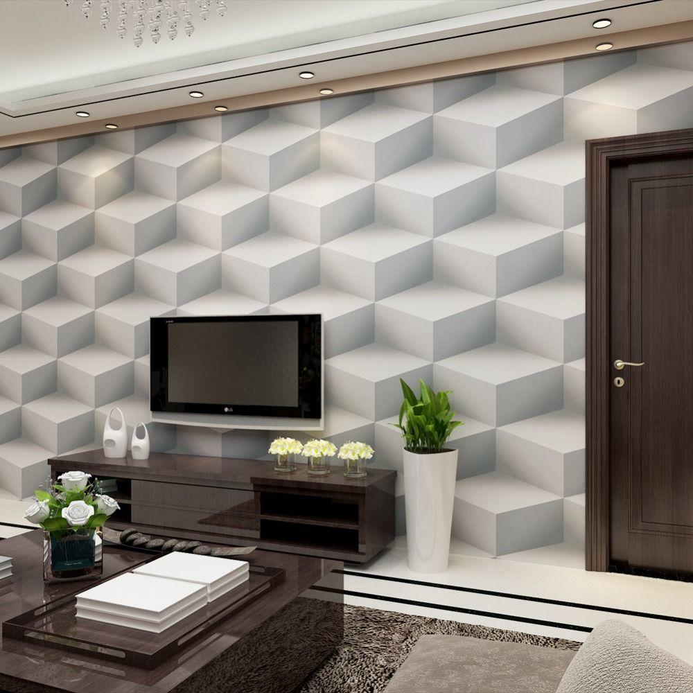 Goedkope Moderne 3 D Reliëf PVC Behang voor muren woonkamer home ...