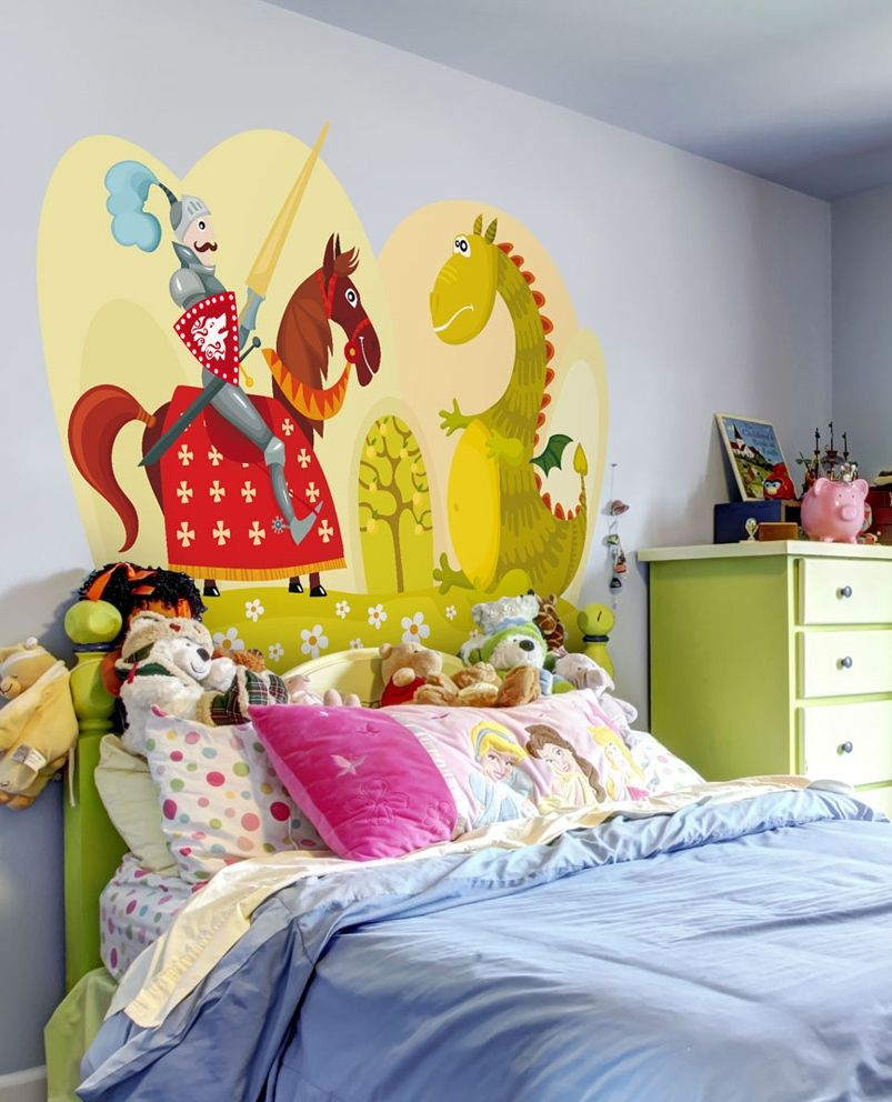 Wall sticker The tale of a brave knight | Wall sticker, Knight and Child