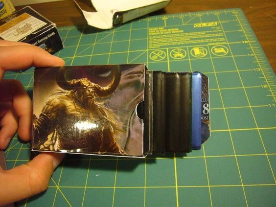 Make Your Own Playing Trading Magic Card Deck Boxes Deck Box Deck Box Diy Diy Playing Cards