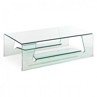 Modern Rectangular Clear Bent Glass Coffee Table Airing Coffee Table Contemporary Coffee Table Sleek Coffee Table