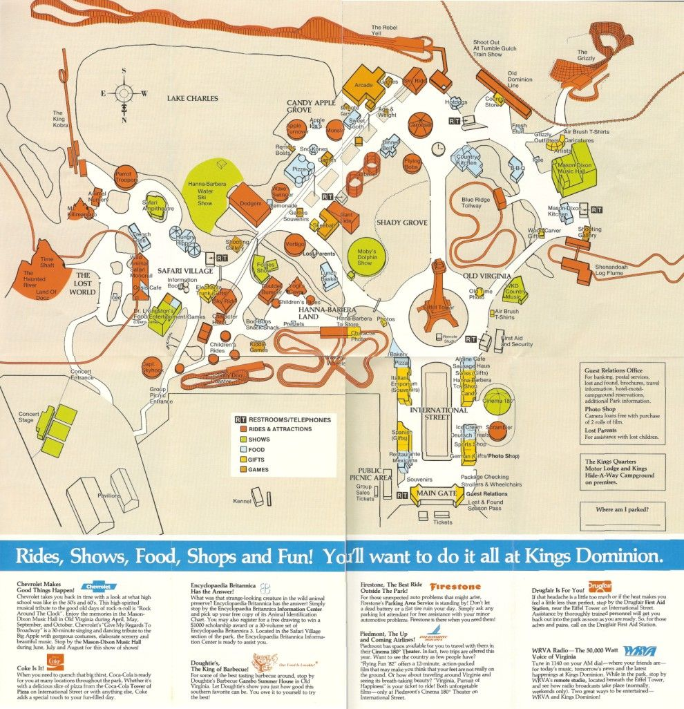 Kings Dominion. Our final stop on the way home in 1977. It was the on mt. olympus water & theme park map, universal studios map, carowinds map, kingda ka map, silver dollar city map, six flags map, virginia map, geauga lake map, canada's wonderland map, richmond map, world map, amusement park map, valley fair map, cedar point map, knott's berry farm map, nickelodeon universe map, printable kings island 2014 map, dorney park map, nagashima spa land map, canobie lake park map,