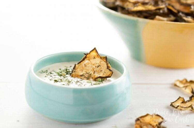 Garlic Dill Baked Cucumber Chips   Peace Love and Low Carb