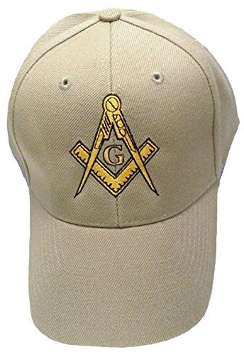 f1d6028752 Buy Caps and Hats Masonic Baseball Cap Freemason Mason Hat Mens One Size  Tan Buy Caps