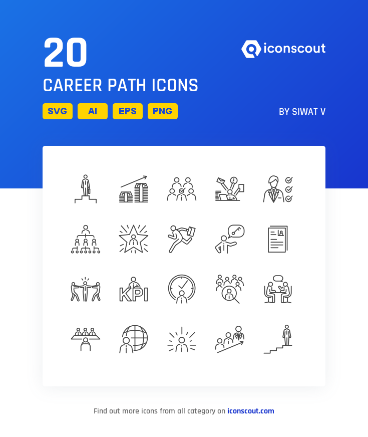 Download Career Path Icon pack Available in SVG, PNG