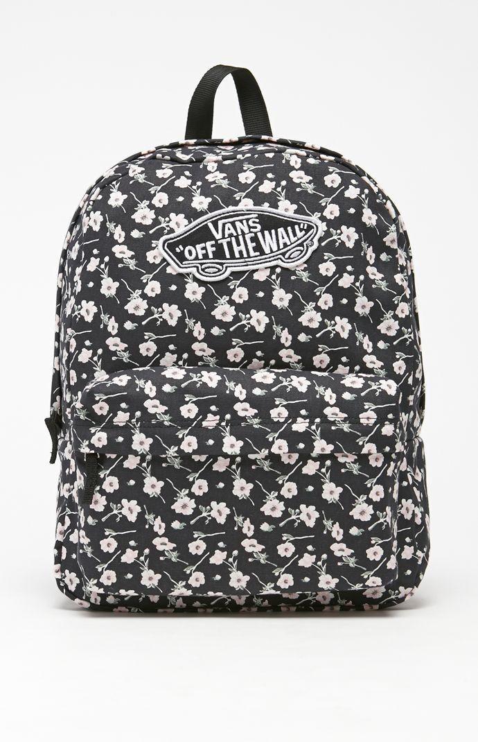 Vans Realm Graphite School Backpack - Womens Backpack - Graphite - NOSZ Vans  Apparel - Vans Womens Backpack - Vans Realm Graphite Backpack Vans comes  with ...