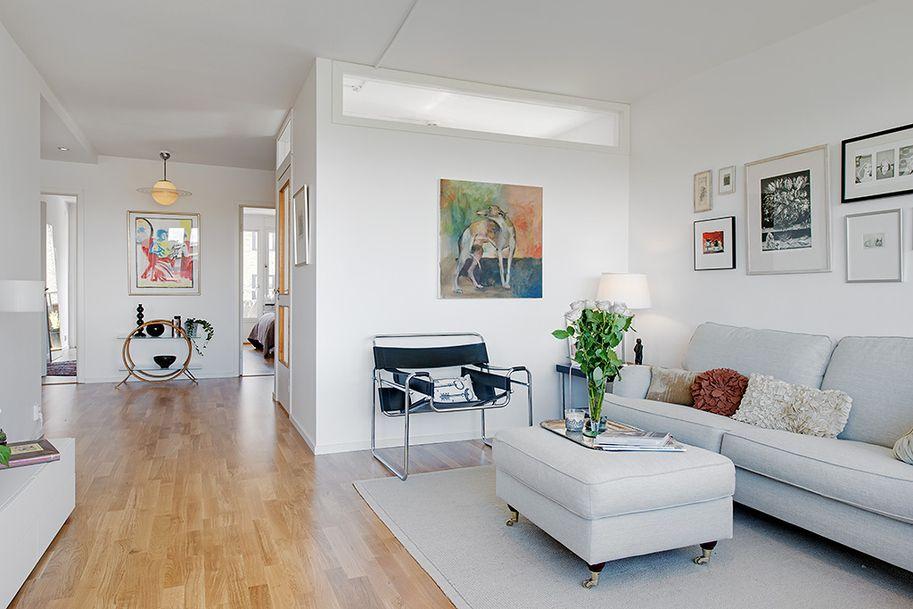 Scandinavian Style Apartment Design: Masthuggsliden 22 Apart in Gothenburg, Sweden: Beautiful Canvas Artwork Modern Chair Masthuggsliden 22 Apartment Interior ~ SQUAR ESTATE Apartment Inspiration