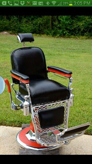 $$$AVAIL CHAIRS$$$$$ : ) Antique Barber Chair Restoration Chrome Porcelain  Upholstry Parts Repair Vintage Koken, Theo A Kochs, Interior Design,  Decorating, ...