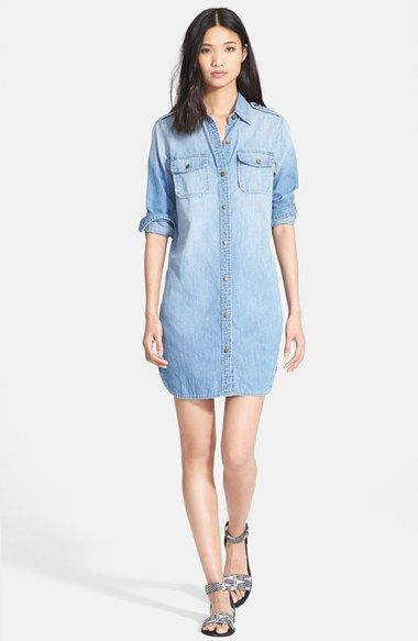0593646e5a Current Elliott  The Perfect Shirt  Denim Shirtdress available at  Nordstrom