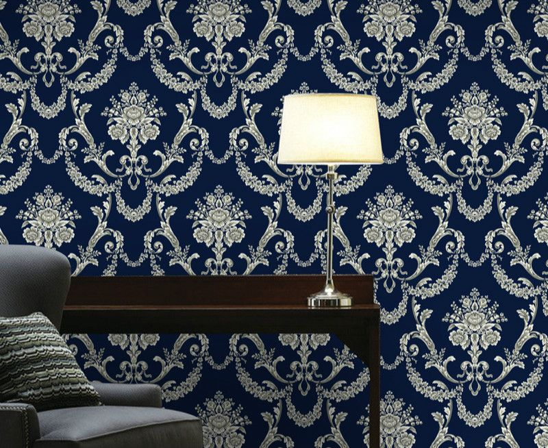 3d non woven wallpaper damask european vintage wallpaper wall covering paper for backdrop textured wall