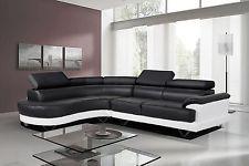 Astonishing Cosmo Black And White Leather Corner Sofa Left Hand Corner Beatyapartments Chair Design Images Beatyapartmentscom