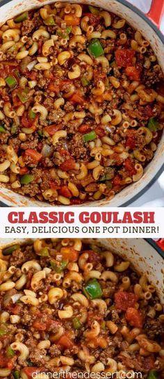 Classic Goulash - Dinner, then Dessert