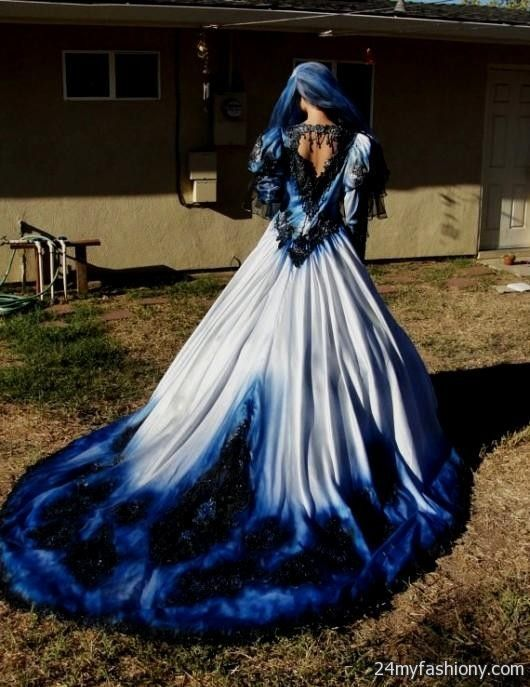 Blue Gothic Wedding Dress Looks Goth Wedding Dresses Blue