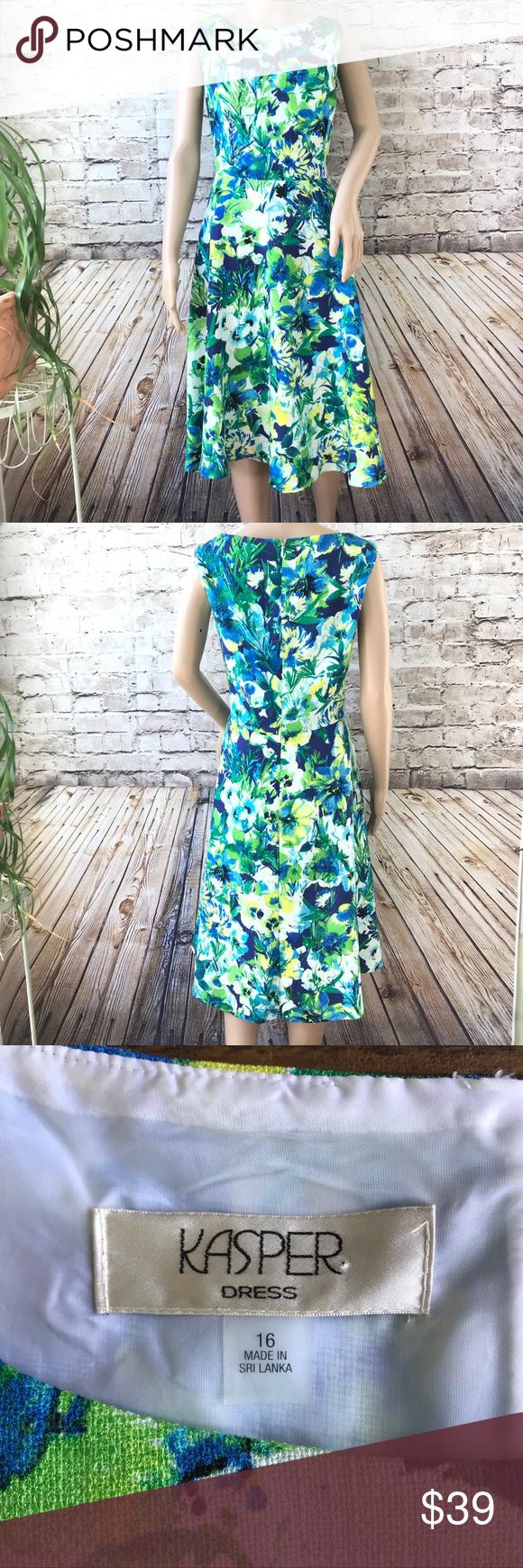 Kasper Blue Green Sleeveless Dress Size 16 Size 16 Dresses Dresses Kasper Dress [ 1740 x 580 Pixel ]