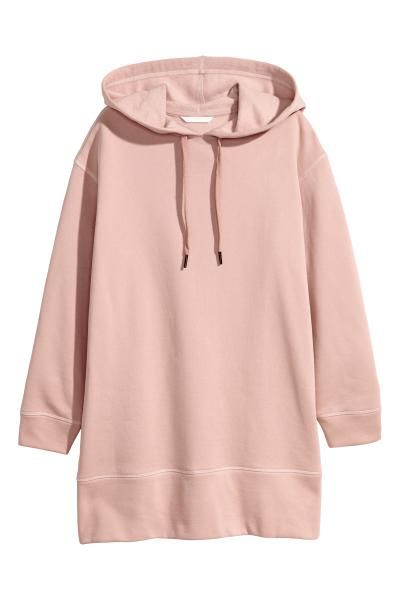 Oversized Hooded Sweatshirt Powder Pink Ladies H M Us 1 Hooded Sweatshirts Hooded Tops Sweatshirts