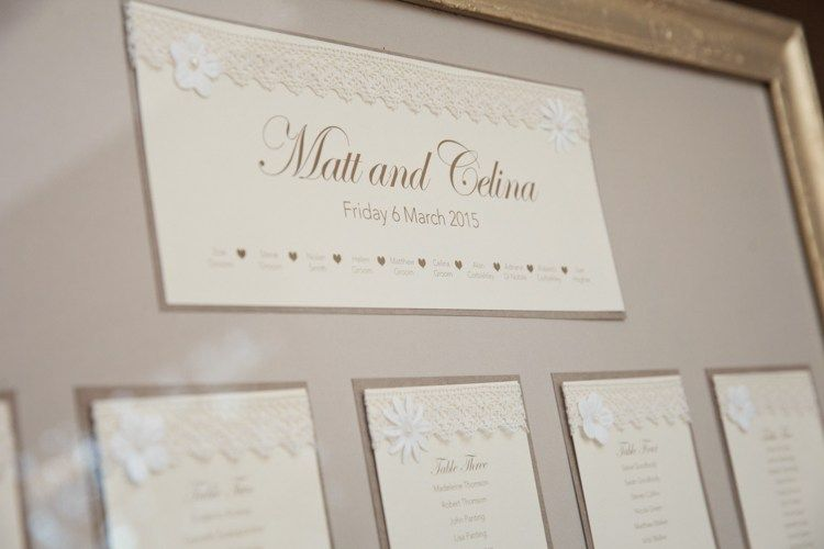 Stationery Table Plan Seating Chart Classic Chic Simple Elegant Champagne Wedding Kent http://kerryannduffy.com/
