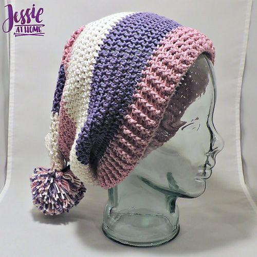 Ravelry: Stripey Stocking Hat pattern by Jessie Rayot   Crochet Hat ...
