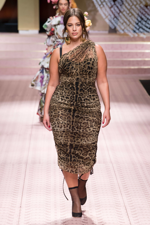 aac17a5b7366 Ashley Graham wearing Spring 2019 Ready-to-Wear Dolce   Gabbana  NYFW   runway