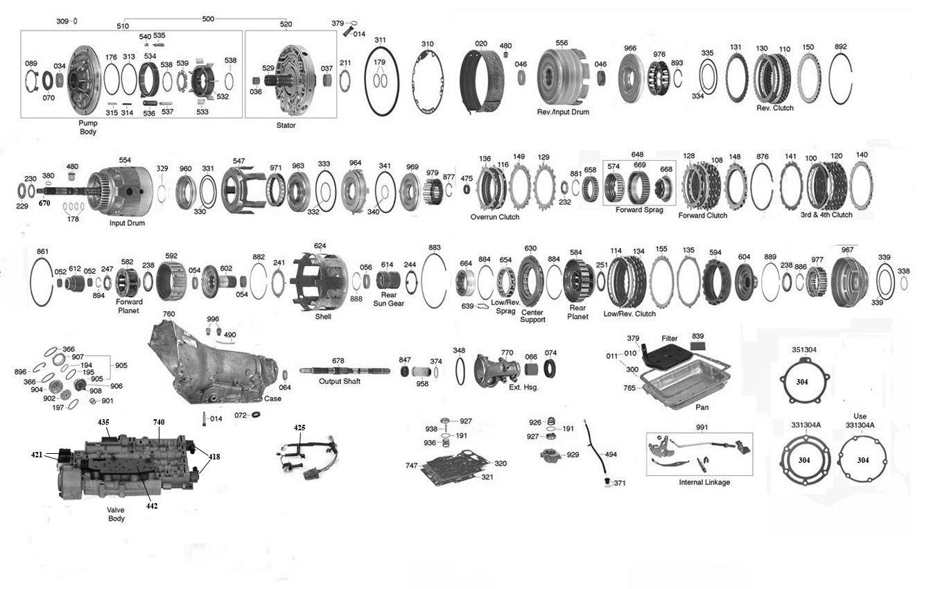 diagram of a 2003 4l60e trans parts online 700 4l60e transmission parts | auto ...