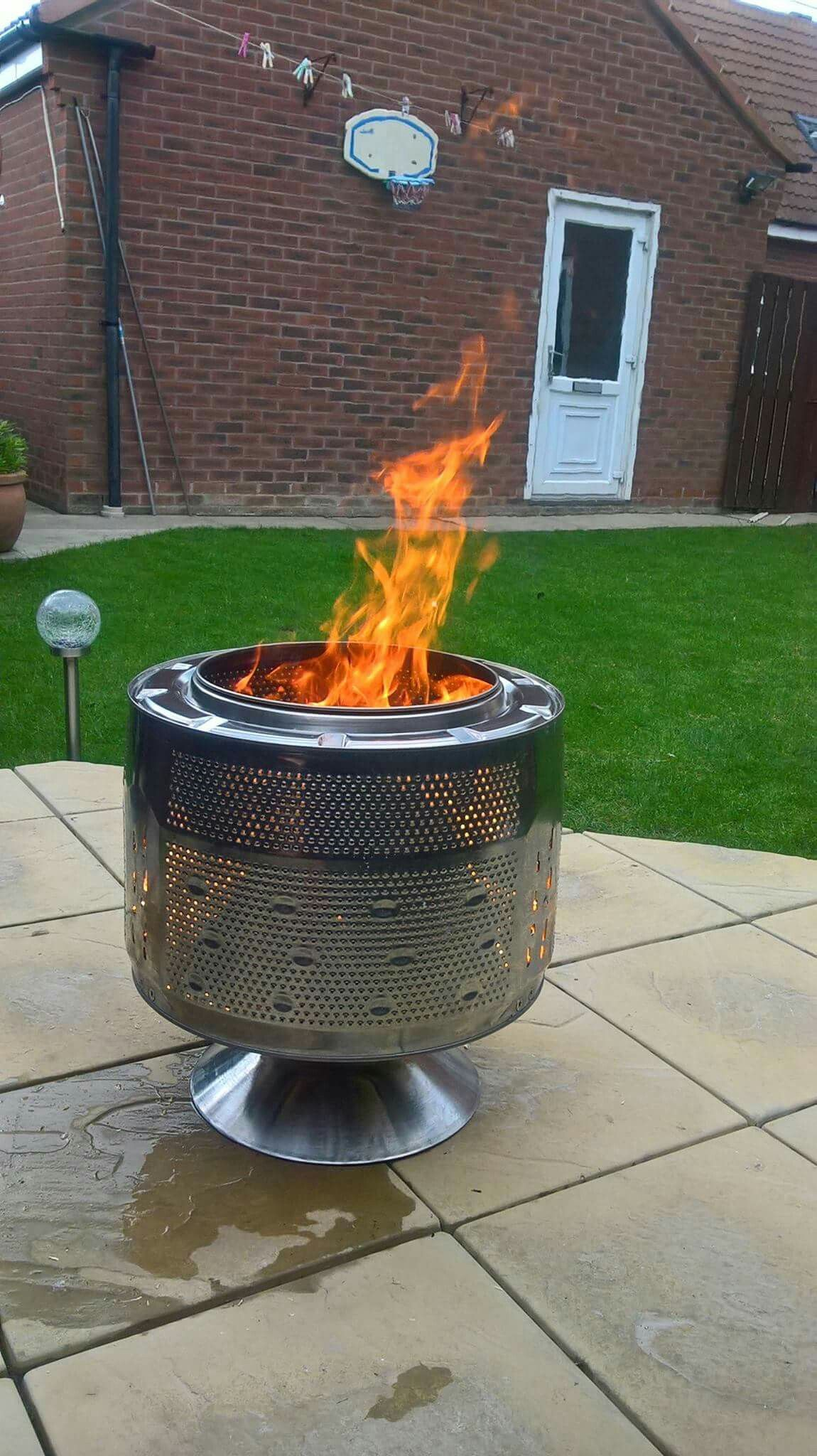 Washing machine firepit