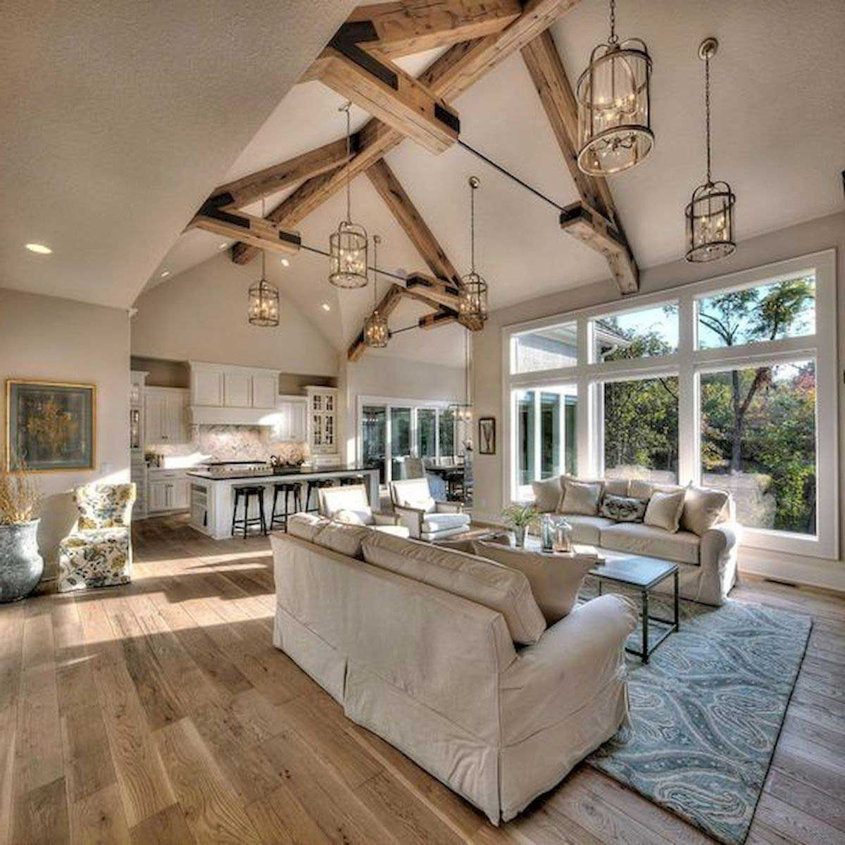 36 The Best Farmhouse Living Room Decor Ideas 23 1 For Your House Best Inspiration Ideas That You Want In 2020 Farm House Living Room Vaulted Ceiling Living Room Farmhouse Style Living Room Decor