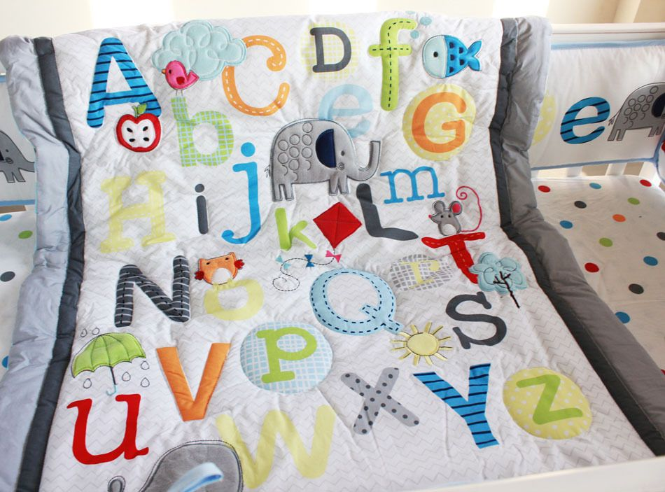 baby quilts with elephants - Google Search   Kids   Pinterest ... : alphabet baby quilt pattern - Adamdwight.com