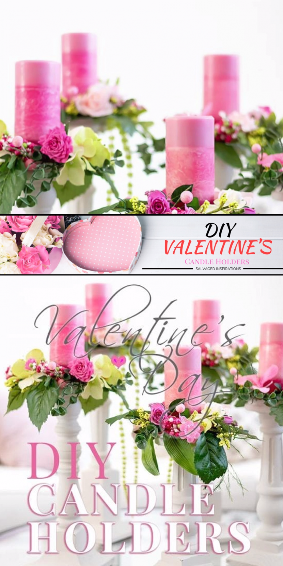 I LOVE easy DIY projects that make a HUGE impact   With Valentine   s Day approaching fast  I thought it would be fun to create some romantic DIY Wooden Candle Holders out of salvaged chair legs   Wait until you see what I used for the decorative candle rings  I   m impressed with me       This was salvaging and using what I had on hand at it   s best  I   m treating myself to some donuts for thinking up this one   diy  siblog  upcyclingfurniture  candleholders  salvagedfurniture  valentinecraft