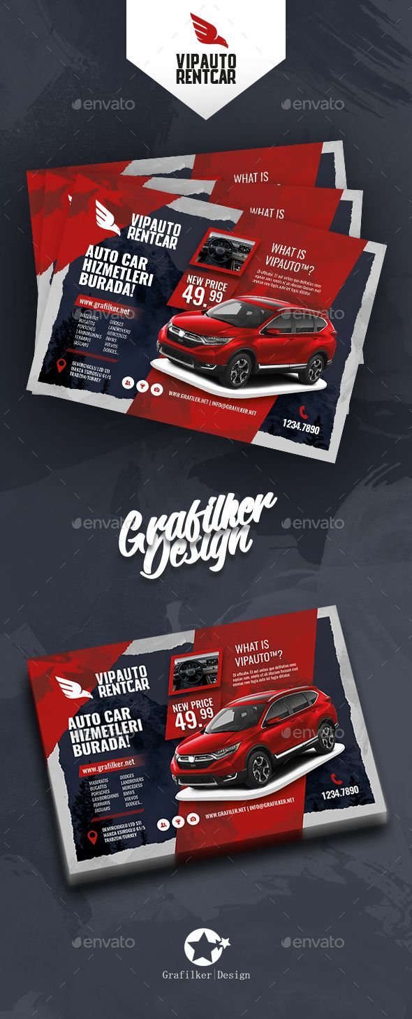 rent a car flyer templates psd indesign indd