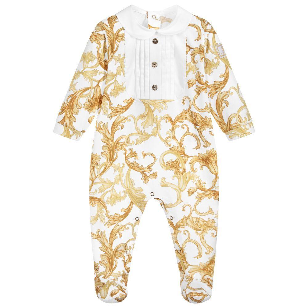 dc22009784ae Young Versace - Gold BAROQUE Babygrow