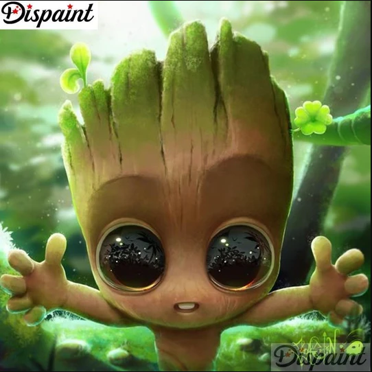 5D Diamond Painting Groot from Guardians of the Galaxy Kit