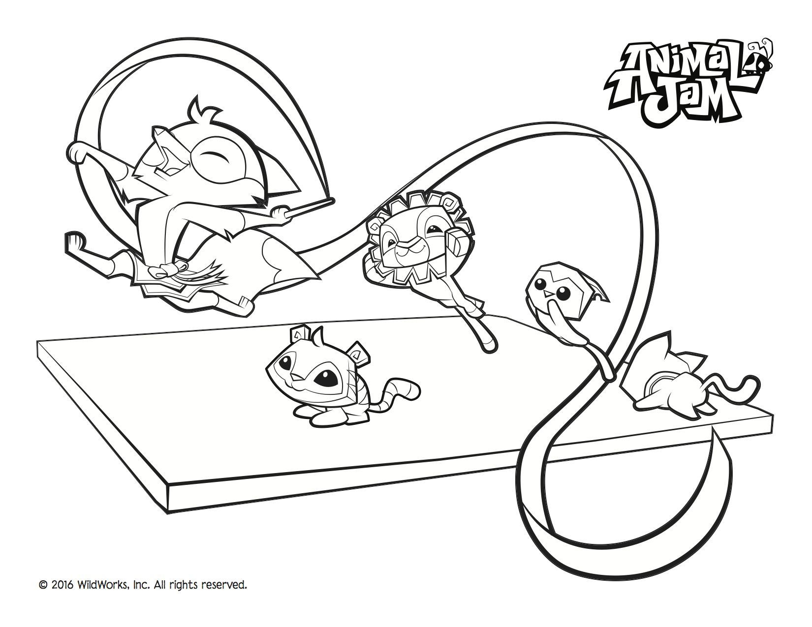 More Summer Games Fun With This Awesome Coloring Sheet From Animal Jam Download And Celebrate
