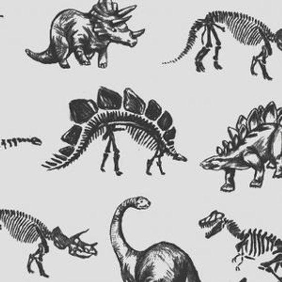 Dino Crib Bedding, Black And White Dinosaur Baby Bedding