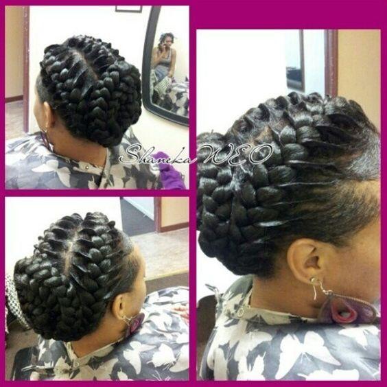 Under Handed Braids Goddess Braids Hairstyles Goddess Braids Hair Styles