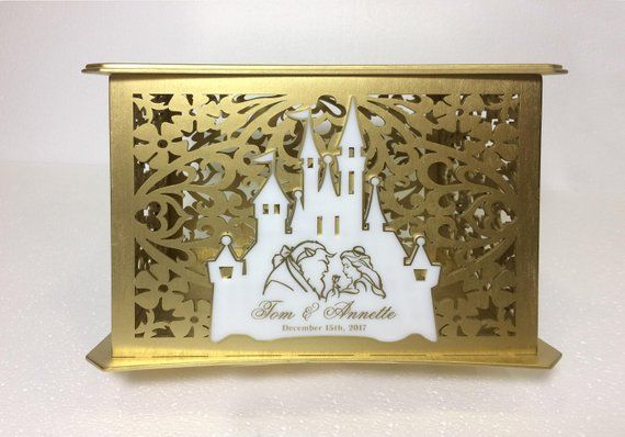 Beauty And The Beast Box For Cards Disney Theme Wedding Money