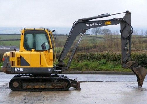 used volvo ec55b compact excavator workshop service repair manual rh pinterest com Digger Excavator Dump Truck Volvo Wheeled Diggers