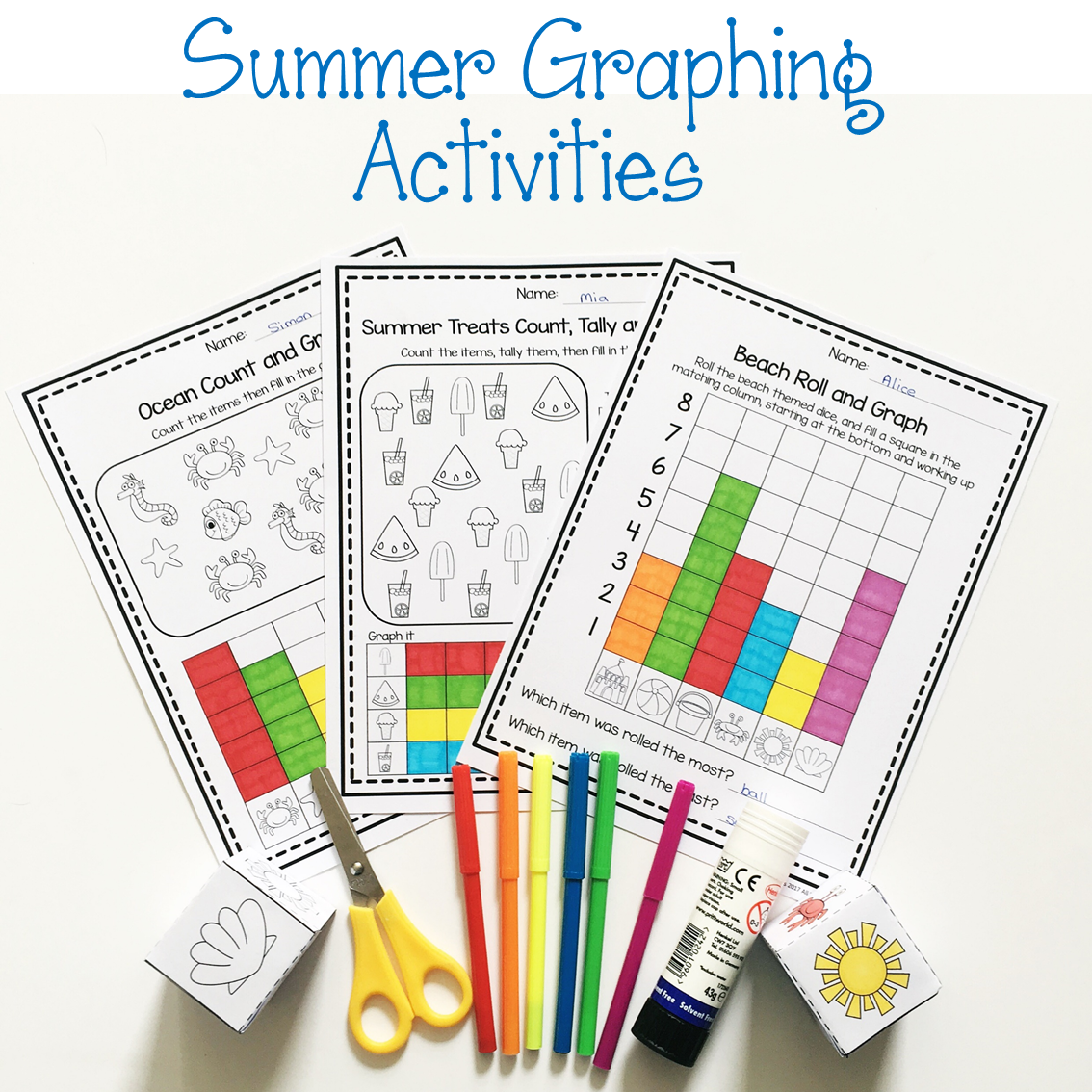 Roll And Graph Activity Amp Count And Graph Worksheets With
