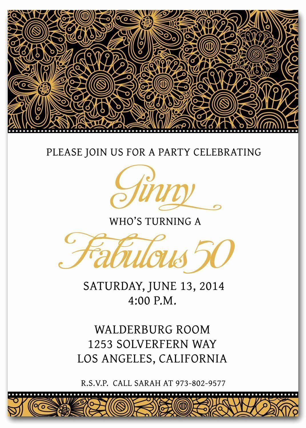 50th Birthday Invitation Card Luxury 50th Birthday Invitation Surprise Birthday Party Invitations Birthday Invitation Templates 50th Birthday Party Invitations