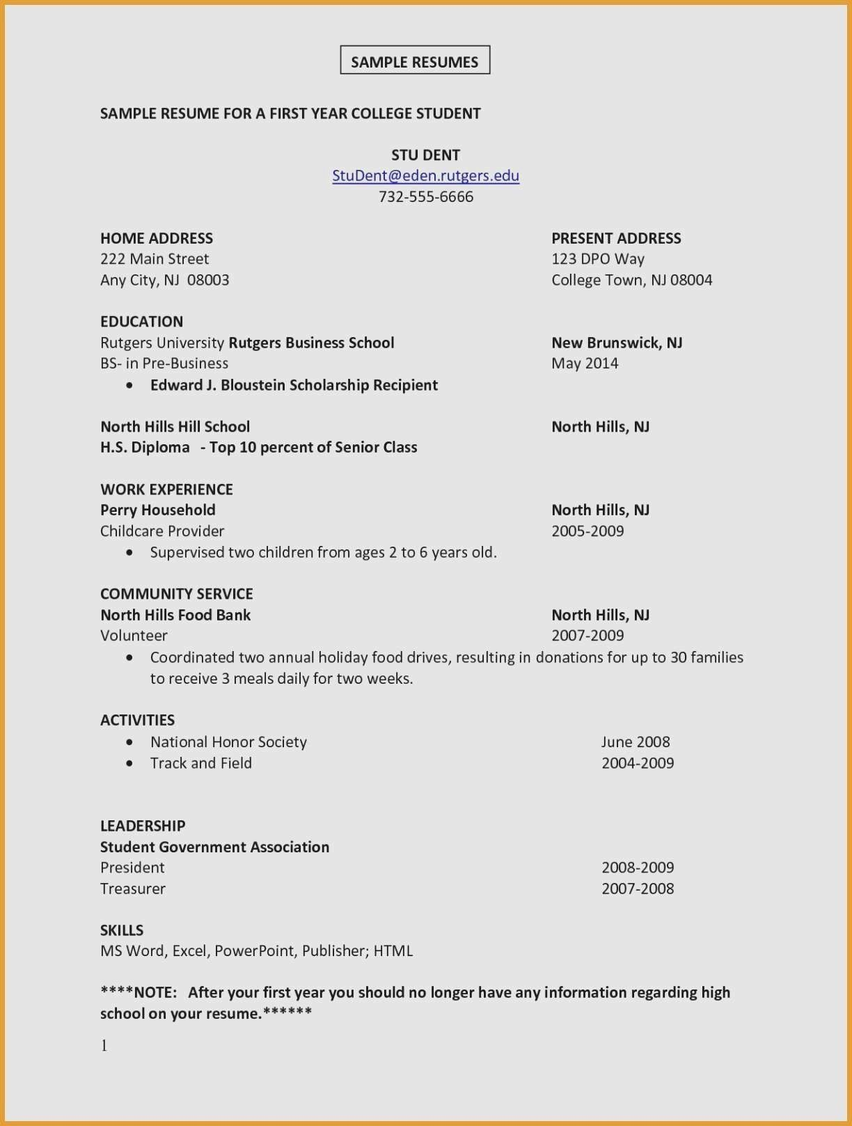 Community Service On Resume Lovely Title Resume for