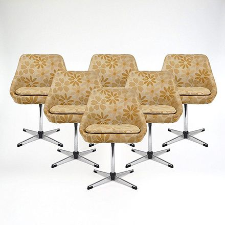 Drehstühle mit Metallgestell, 1960er, 6er Set Jetzt bestellen unter ...