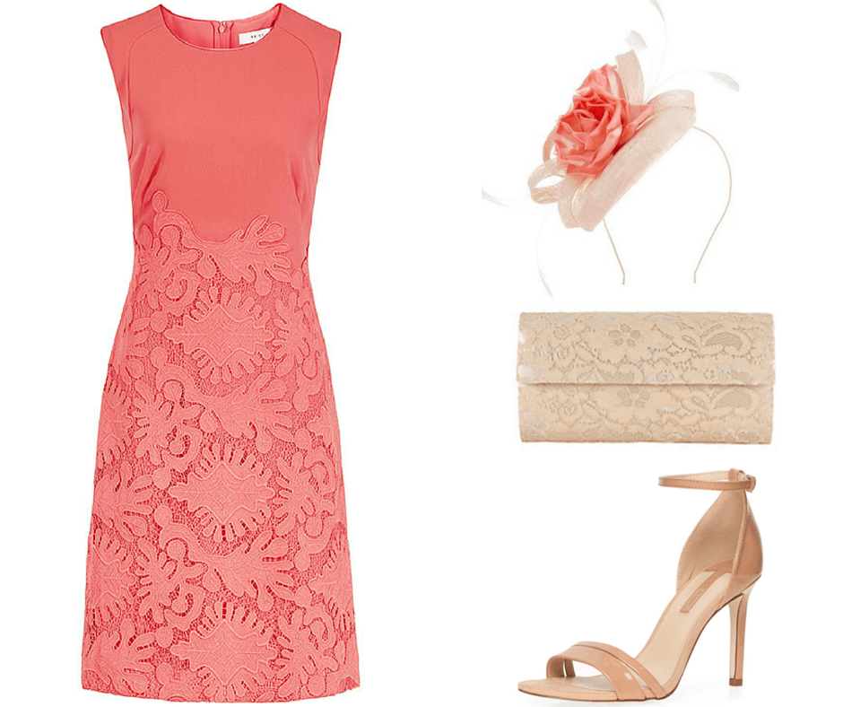 Stunning Coral Wedding Guest Outfit From Reiss Dorothy Perkins