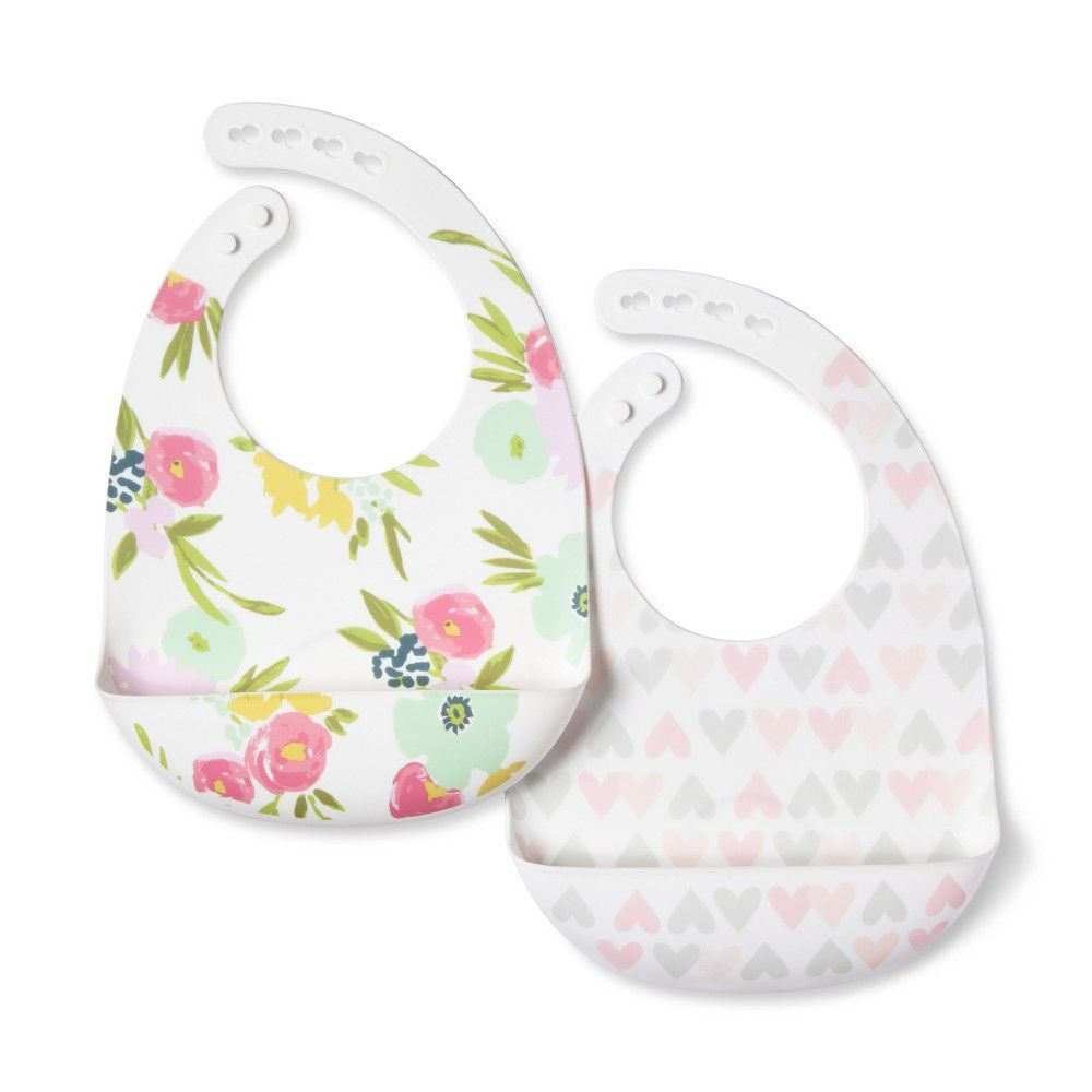 New Just One You by Carter/'s 3 Pack Bibs Girls Cuddlin/' with Mommy Heart Print