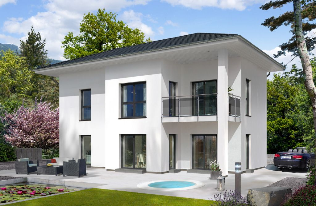 3 Moderne Häuser In Vielen Grautönen