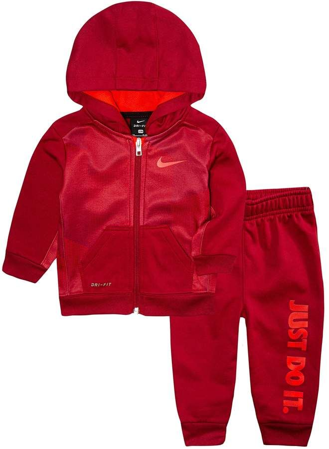 pretty nice 21ff1 c45cc Nike Baby Boy 2-Piece Therma Zip Logo Hoodie   Pants Set