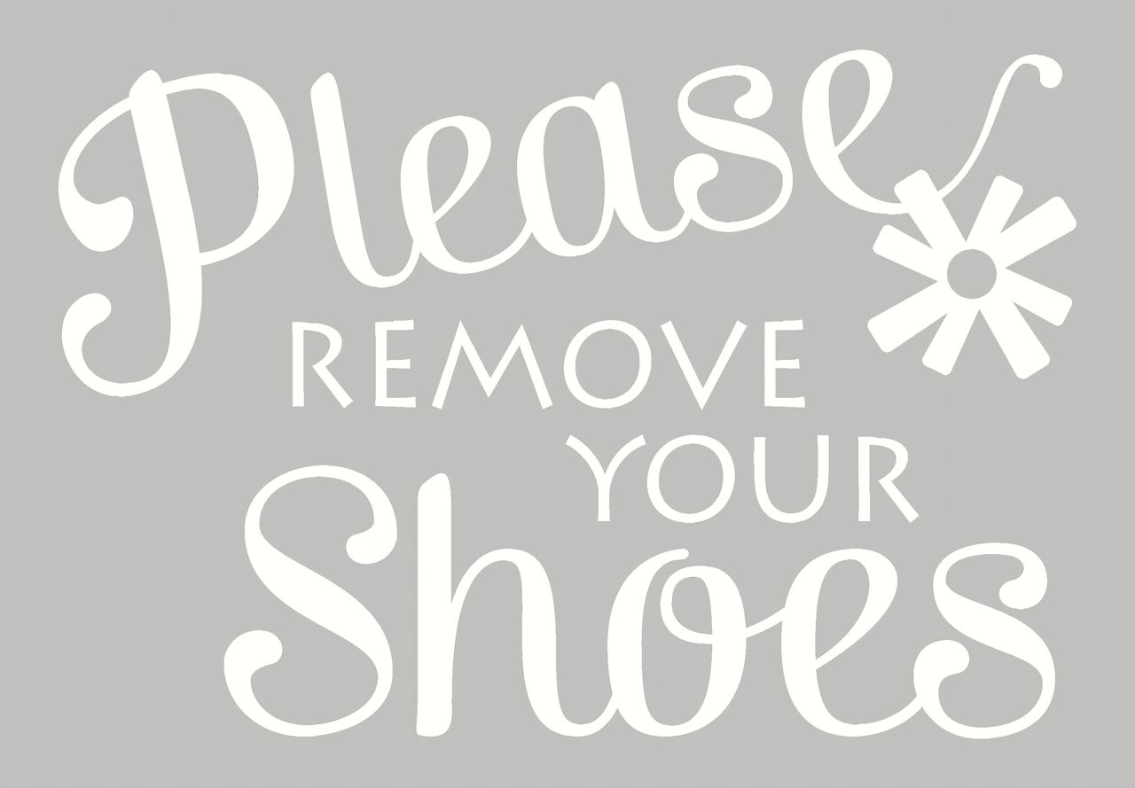 Please Remove Your Shoes Vinyl Wall Decal For Front Entry Decor - Custom vinyl wall decals cheap   how to remove