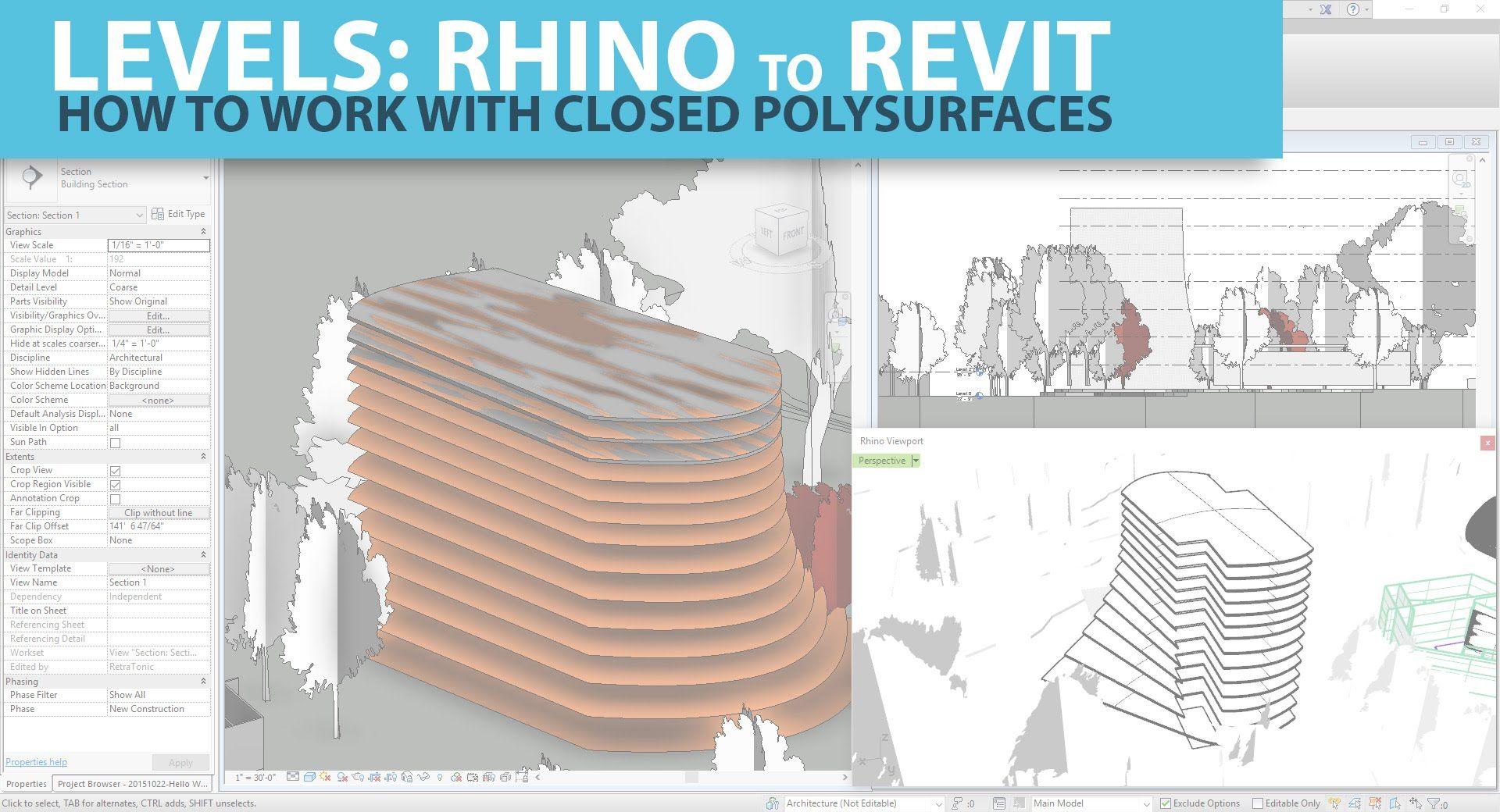 Interoperability Guide: Rhino Levels to Revit 1