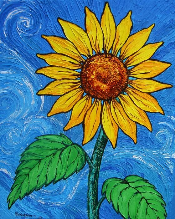 Paintings Of Sunflowers