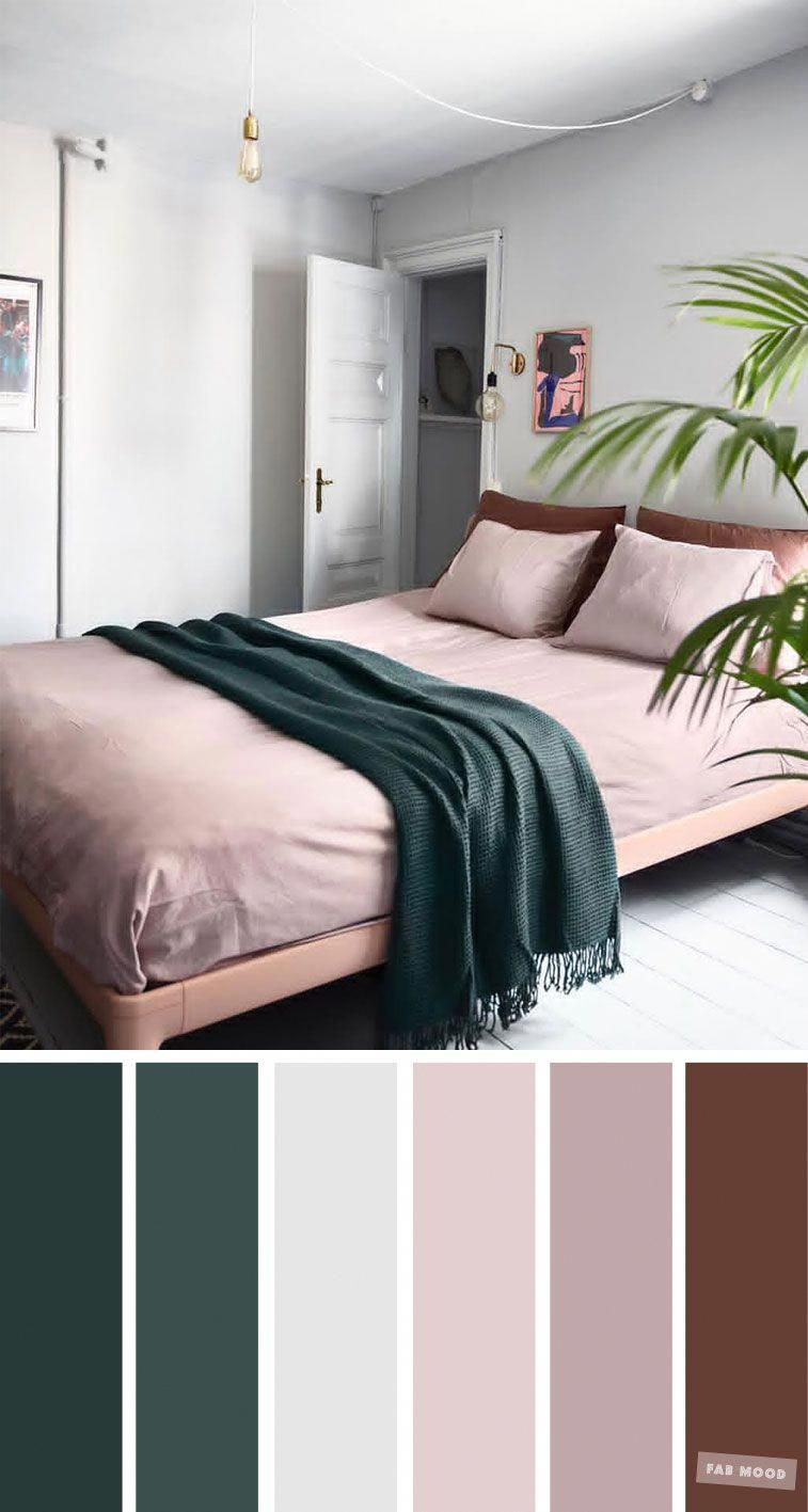 Mauve , Grey and Dark Green for Bedroom, Mauve and grey color